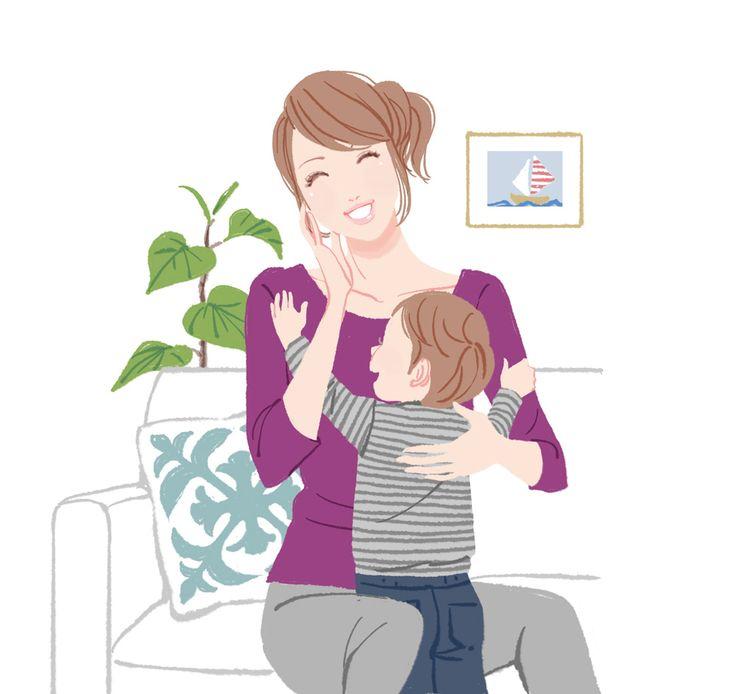 Картинка для детей мама и сын