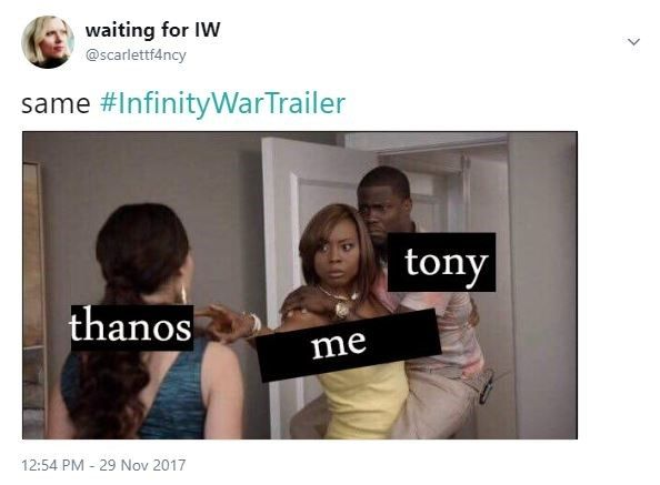 All The Best Memes And Reactions To The 'Avengers: Infinity War Trailer'