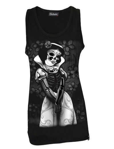 Darkside Snow White Skeleton Top Women's Shirt Rockabilly Punk Goth Size Large   Clothing, Shoes & Accessories, Women's Clothing, Tops & Blouses   eBay!