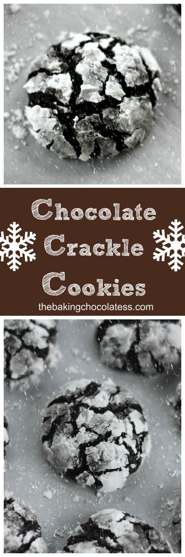 Christmas Chocolate Crackle Cookies via @https://www.pinterest.com/BaknChocolaTess/