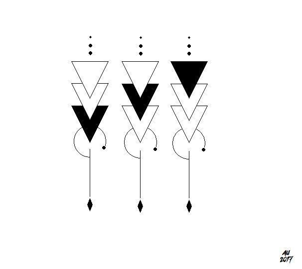 idée de tatouage triangle pour frères et soeurs. art géométrique dans le travail en ligne – #Art # GEOMETRİC …   – Tattoo Ideen
