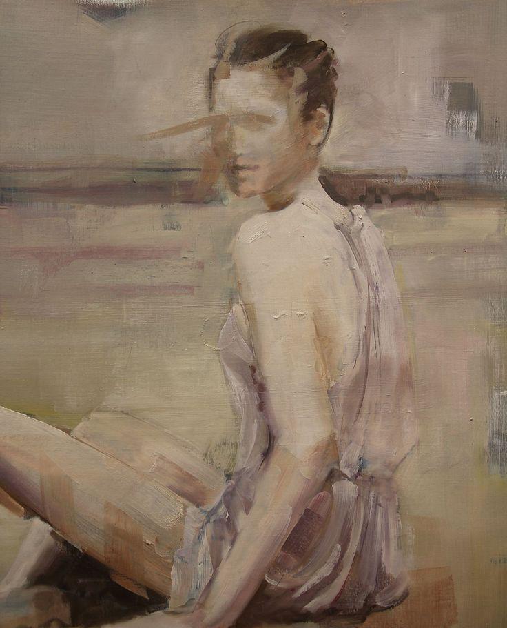 "Saatchi Art Artist: Fanny Nushka Moreaux; oil 2014 Painting ""October Sand (SOLD)"""