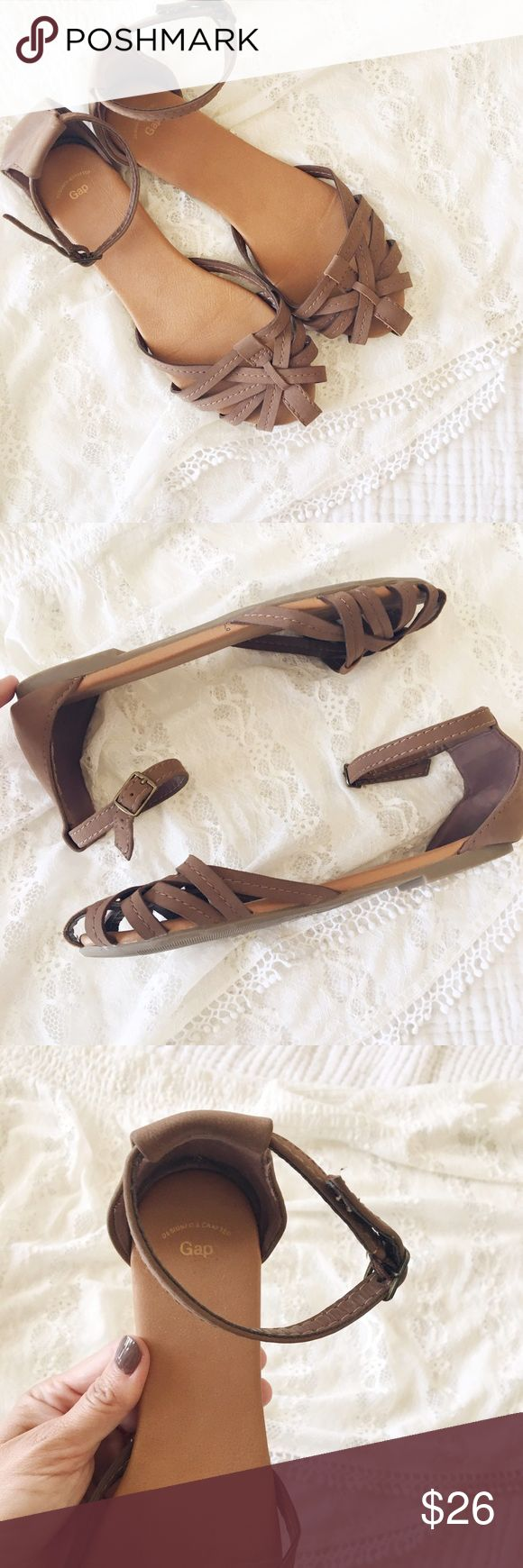 BOGO Gap Leather Pretty Summer Sandal Flats 🍑 Size 7 🍑 Brown 🍑 Worn Once 🍑 Price is FIRM unless bundled  ✨ All items from a smoke free home  ✨ Please ask questions prior to purchase GAP Shoes Flats & Loafers