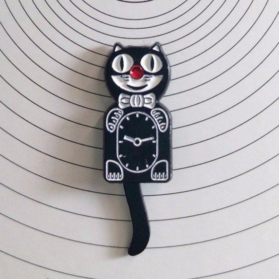 'Cat Clock' Pin