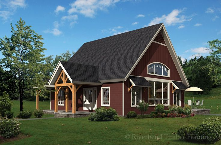 Riverbend timber framing turnwood cottage home plan for Timber frame bungalow