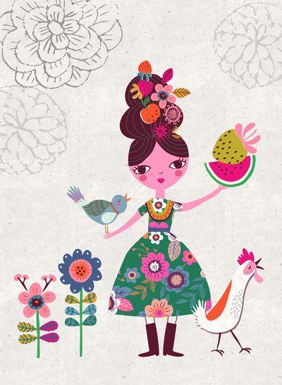 Folk Girl | By Rebecca Jones (Drawnbyrebeccajones)