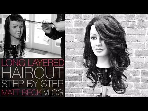 VIDEO--  FREE SALON EDUCATION HOW TO CUT A LONG LAYERED HAIRCUT STEP BY STEP   MATT BECK VLOG 014 - YouTube