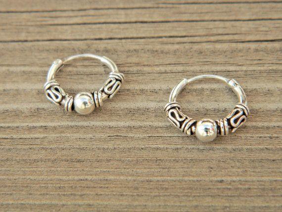 3X12 mm Sterling Silver Hoop Earrings  Silver Hoop Earrings