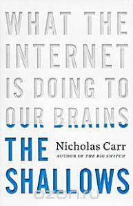 Nicholas Carr. What the internet is doing to our brains. Want to read this book and live my internet live more conscious and healthy. All about mindfulness.