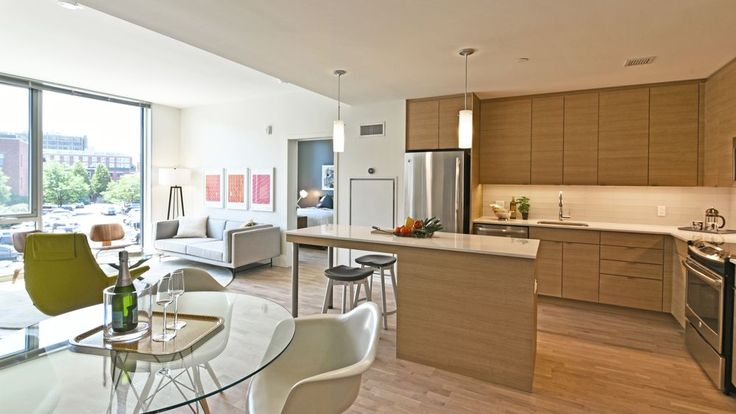 The new Girard apartment complex rose from an old parking lot in the…