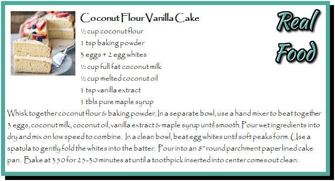 Coconut Flour Vanilla Cake