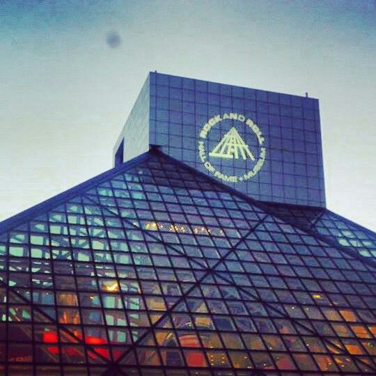 Rock and roll hall of fame. Cleveland Ohio. Love the Hall of fame!! Had to go eat at one of Michael Symons restuarant's.