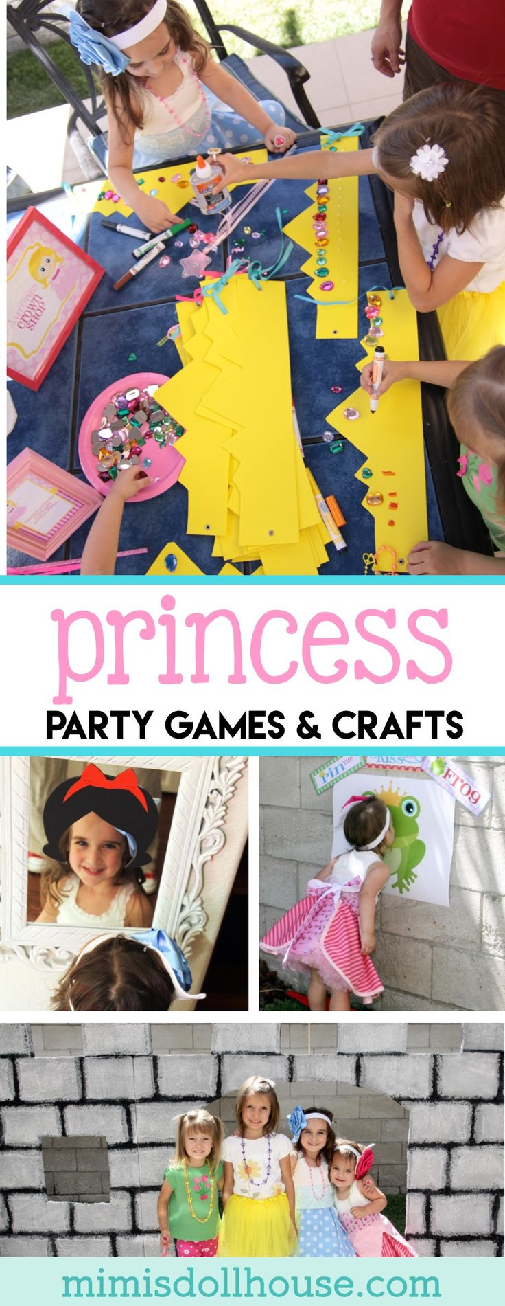 Princess Party: Aubrey's 4th Birthday Storybook Celebration (Part 2). Ready for some more Princess Party Fun?I'm sharing the second part of my daughter's birthday party today (Princess Party Part 1). Be sure to check out theCastle Tutorial,Crown Tutorial, andStorybook Tutorialthat coordinate with this design. Also, check out all of my princess party ideas. via @mimisdollhouse