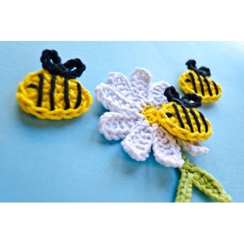 Bee and Flower Applique Crochet
