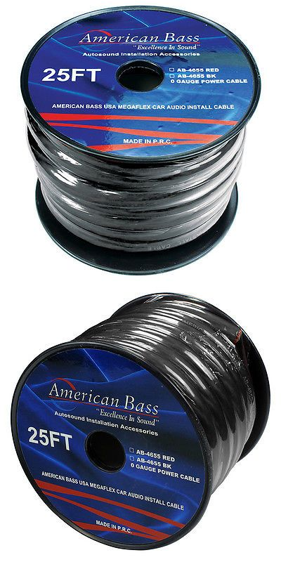 Power and Speaker Wire: American Bass American Bass 0 Gauge Black 25 Ft. Roll(Ab4655bk25ft) -> BUY IT NOW ONLY: $37.49 on eBay!