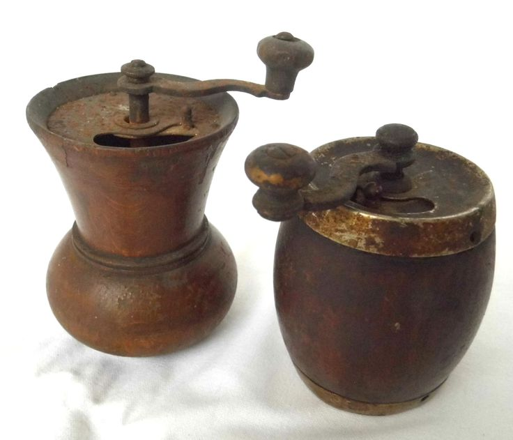 Antique Rustic Coffee Grinder Mill Maker Wood Metal Cast Iron Farmhouse Vintage Kitchen Home Decor by WoodHistory on Etsy