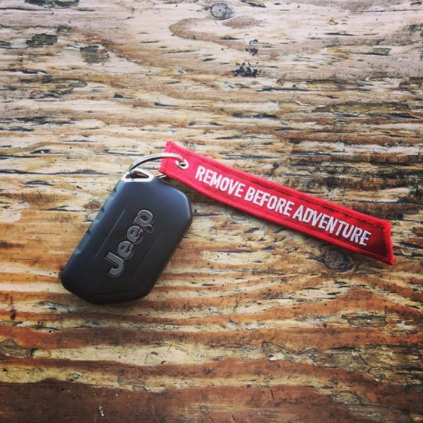 Remove Before Adventure Red Key Tag With Images Jeep Keychain Adventure Jeep Jeep Jku