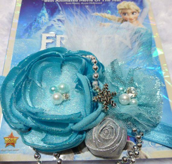 Couture Disney Frozen headband, Frozen birthday,, Snow Queen Elsa headband,Rhinestone, pearls. Photo prop, Made in USA. on Etsy, $12.00