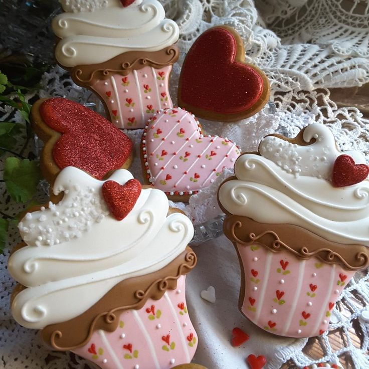 Valentine Cupcake Cookies
