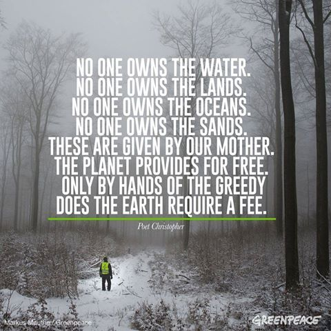 No one owns Mother Earth