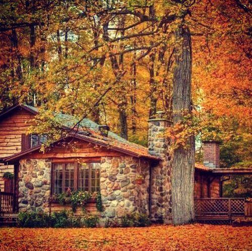 casa de campo outono