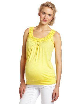 Three Seasons Maternity Women's Sleeve Tank Top, Pineapple, Medium Three Seasons Maternity. $36.00