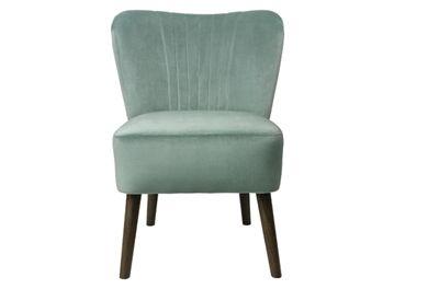 Copenhagen loungestol i blød mintgrøn velour fra Cozy Living