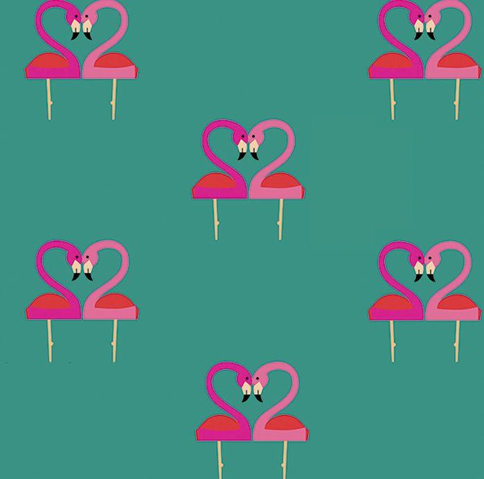 Diseño de Pattern Flamencos - Belen Garat
