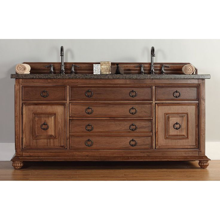 the mykonos 72 inches double sink cinnamon vanity by james martin furniture features birch solids with birch veneers raised panel sides and door details