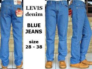 LEVIS DENIM BLUEJEANS  harga eceran  Rp. 115.000 / celana (1 -2 pcs ) harga grosir Rp 95.000 /celana (3 pcs atau lebih) belum termasuk ongkir celana LEVIS LEVIS DENIM BLUEJEANS  bahan jeans warna BlueJeans ukuran 28-38 Pemesanan via SMS Anda dapat melakukan pemesanan melalui SMS dengan format sebagai berikut:  Nama | Alamat Lengkap | Produk Yang Dipesan | Jumlah Pesanan  kirim ke 085701111960 pengiriman dari jakarta.