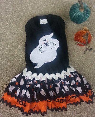 Spooky Ghost Dog Halloween Dress