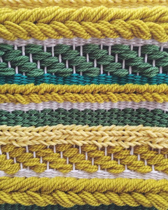 Woven Wall Hanging Yellow Weaving by UnrulyEdges on Etsy