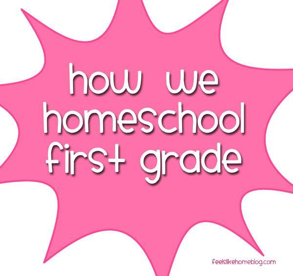 Our First Grade Homeschool Curriculum on http://www.feelslikehomeblog.com
