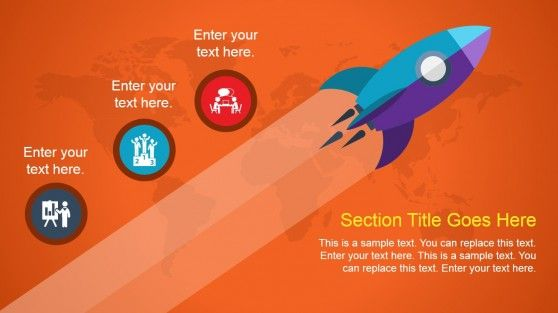 Animated Rocket PowerPoint Slide Design #PowerPoint #templates