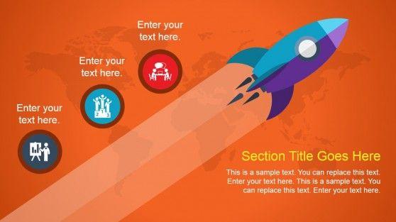 Animated Rocket PowerPoint Slide Design #PowerPoint #templates