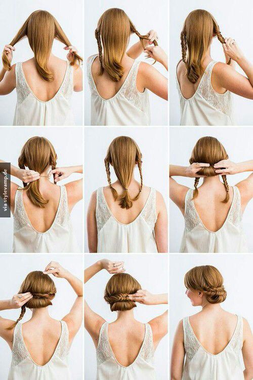 Beautiful hair style for medium to long hair