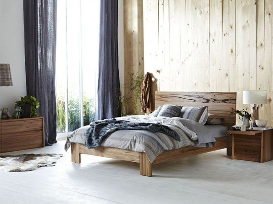For a warm, natural #bedroom, check out the sold Iris #bed frame at #Snooze.