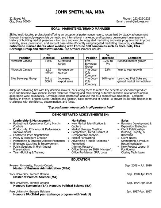 59 best Best Sales Resume Templates  Samples images on Pinterest - resume sales manager