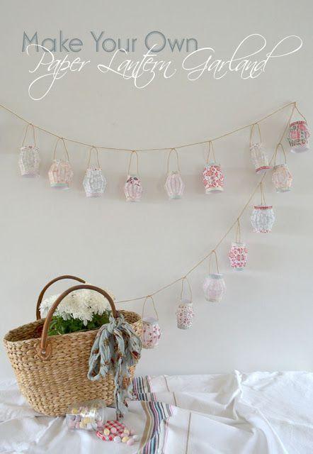Sweet MomEnt: DIY: Paper lantern garland