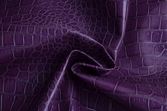 Free Shipping Half Yard Purple Alligator Skin Vinyl