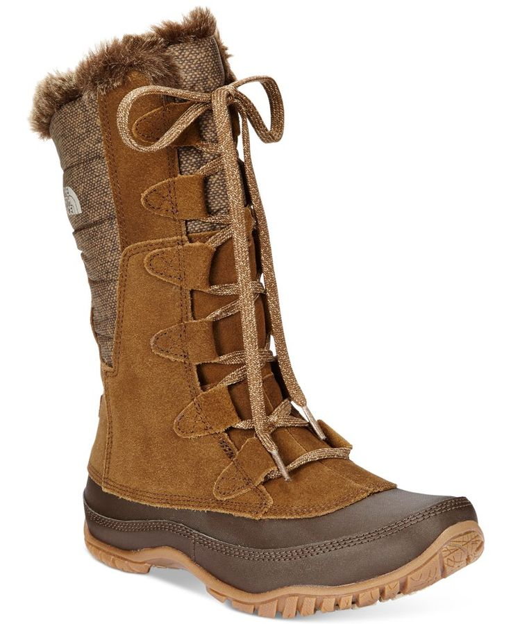 The North Face Women's Nuptse Purna Faux-Fur Boots - Winter & Rain Boots - Shoes - Macy's LOVE these in BROWN