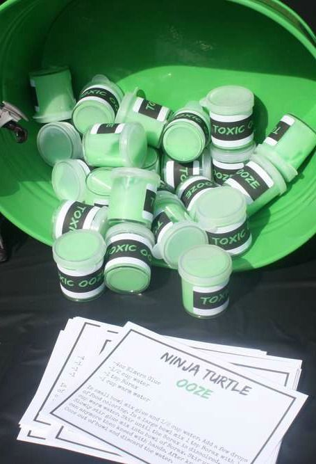 Ooze recipe at a Ninja Turtle birthday party!  See more party ideas at CatchMyParty.com!