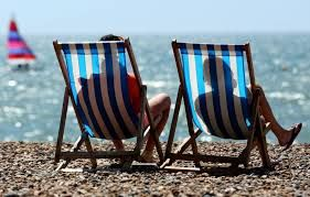 Stripy deck chairs - a quintessential image of the British holiday