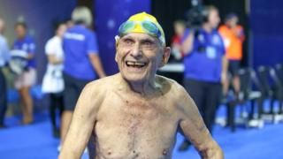 Swimmer 99 'breaks world record' in Australia Latest News