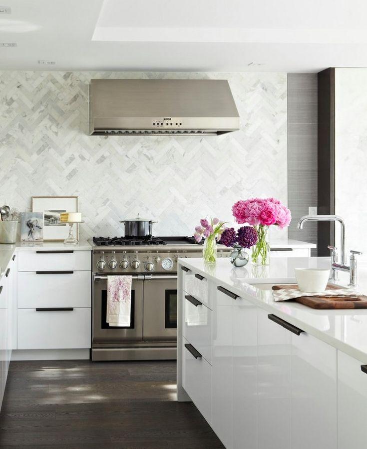 wandfliesen fr kche in marmor optik modern kitchen - Kchen Wandfliesen Modern