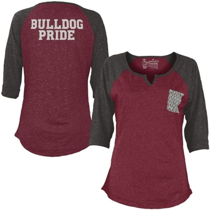 Mississippi State Bulldogs Women's Red Baja 3/4 Raglan Sleeve T-Shirt