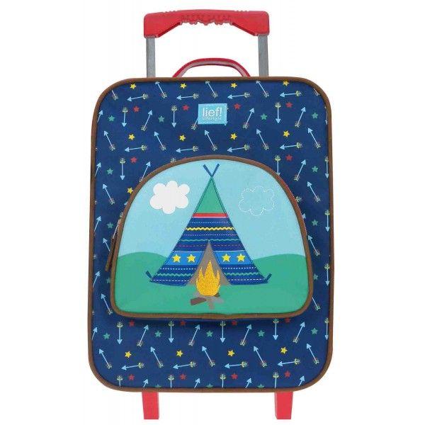 Kindertrolley lief! Blauw met Tent