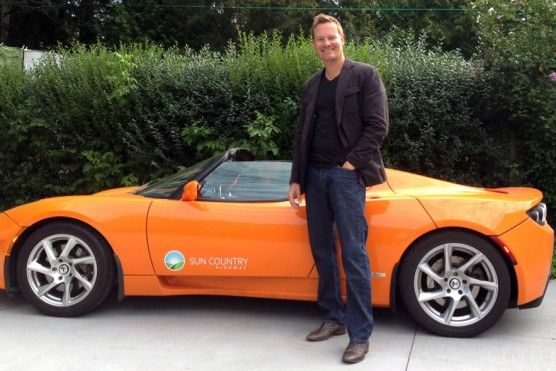 Sun Country Highway vice-president Chris Misch has driven his Tesla Roadster more than 32,000 kilometres in the past two years.
