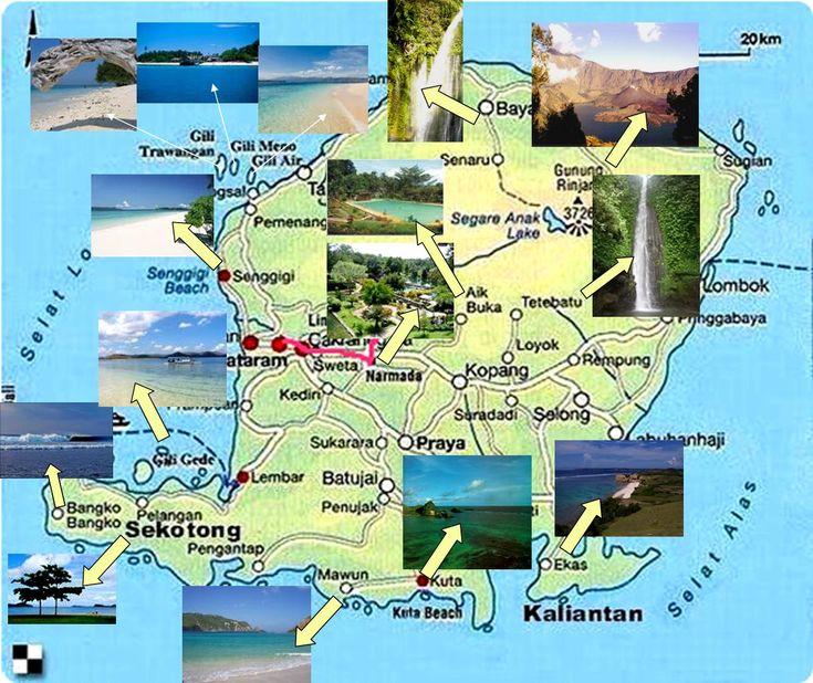 lombok island tourism map