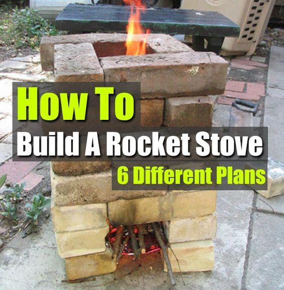 How to build a rocket stove 6 different plans rocket for How to make a rocket stove with bricks